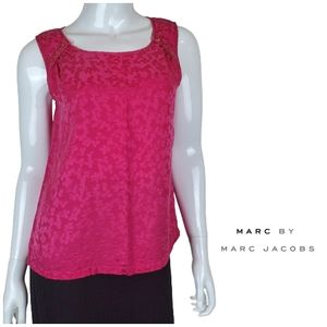 MARC BY MARC JACOBS Sanded Silk Embossed Tank Top